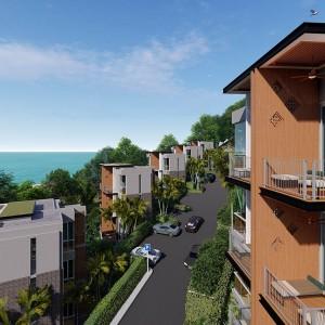 1-комнатные апартаменты (Type A5) в Beachfront Bliss Phuket с видом на море