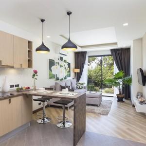 1- комнатные апартаменты (Type A) в Calypso Garden Residences с видом на сад