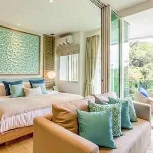 1- комнатные апартаменты (Type A) в Grand Breeze Park Condotel с видом на горы