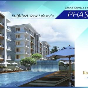 1-комнатные апартаменты (Type C3) в Grand Kamala Falls Residential Resort, вид на бассейн