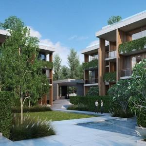 2- комнатные апартаменты (Type J1 ) в Twinpalms Montazure с видом на море