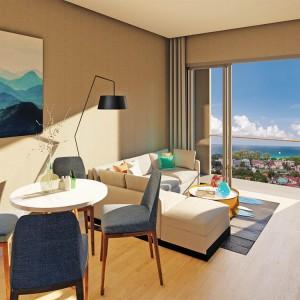 2- комнатные апартаменты (Type B1) в VIP Karon Seaview Condominium, вид на море