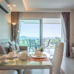 1-комнатные апартаменты (Type C) в Babylon Sky Garden с видом на море