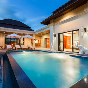 "2 bedrooms villa with swimming pool in ""Baan bua"", Nai Harn"