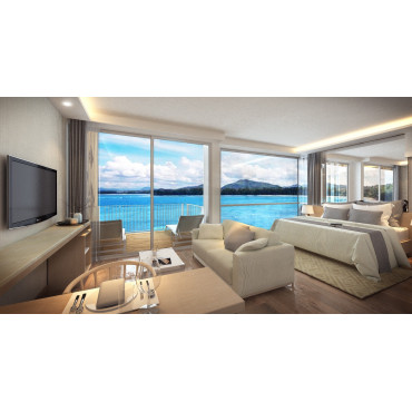Квартира на берегу с видом на море
