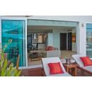 Beachfront blue villa